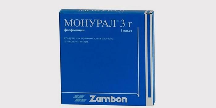 Упаковка капсул Монурал