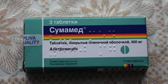 Таблетки Сумамед в упаковке