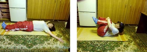 Подтягивание ног к животу