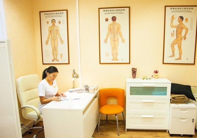 """Точечный массаж в клинике """"Наран"""""""